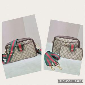 100% Authentic vintage Gucci web sherry line Bag
